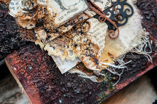 "LIVE WORKSHOP in Tartu 03/11/18 ""Vintage mixed media notebook"