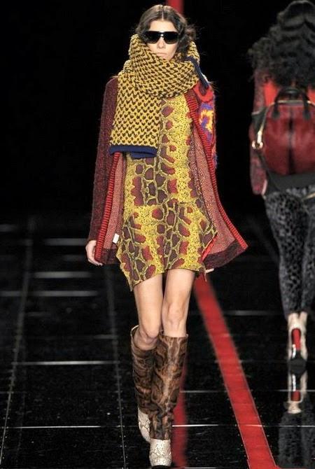Модные женские шарфы осень-зима