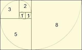 La spirale logarithmique, dite de Fibonacci (Spirale d'or)