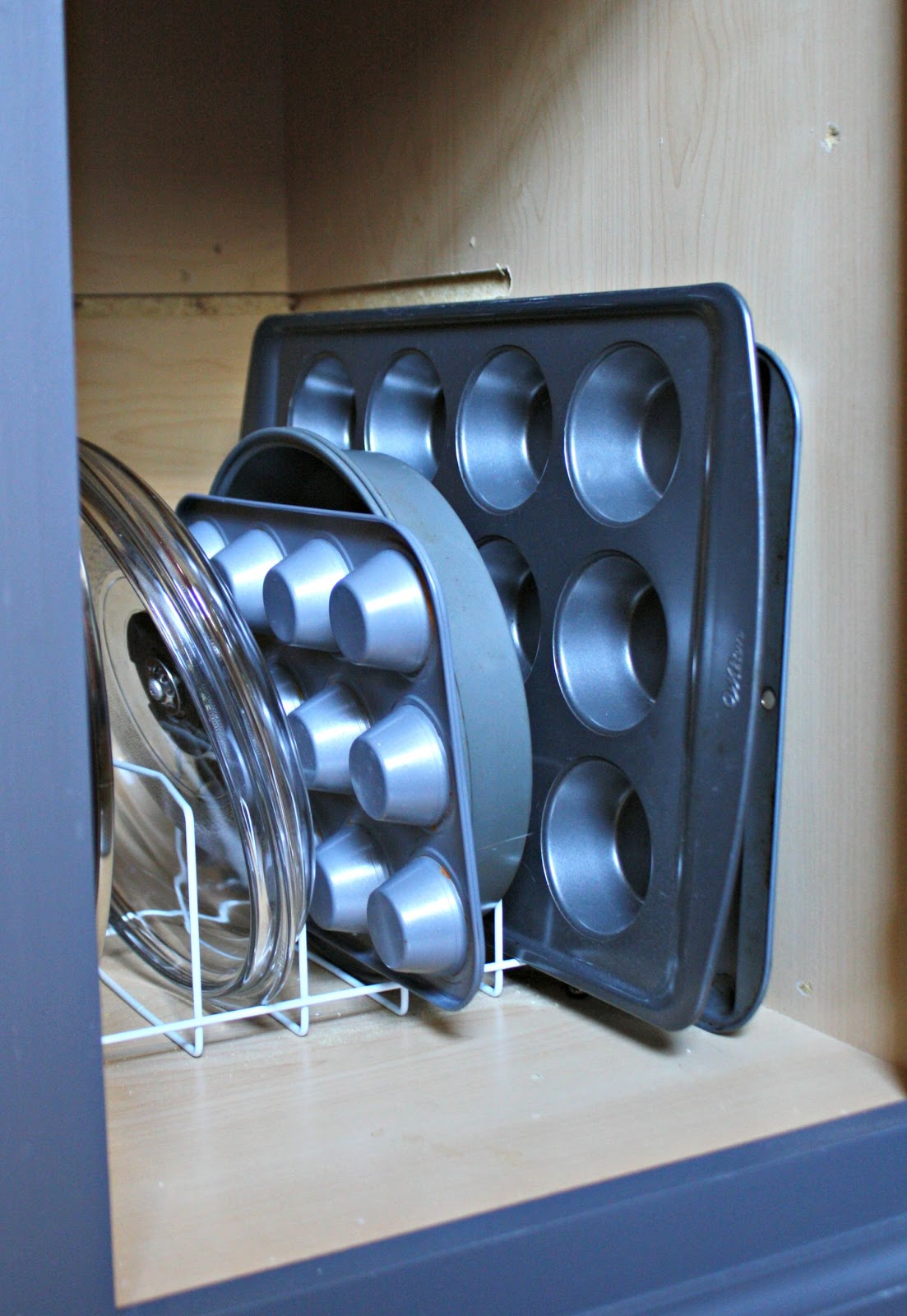 pan storage in cabinets