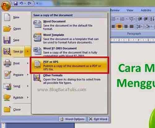 Cara Membuat File Pdf Pakai Converter Word To Pdf