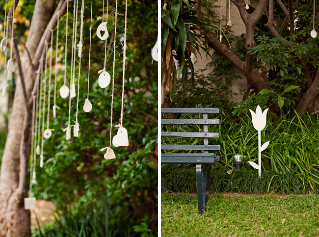 decoracao de jardim gastando pouco:somente com um altar simples cadeiras para os convidados caixas de