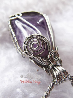 Wire Wrap Amethyst Pendant Bail by WireBliss