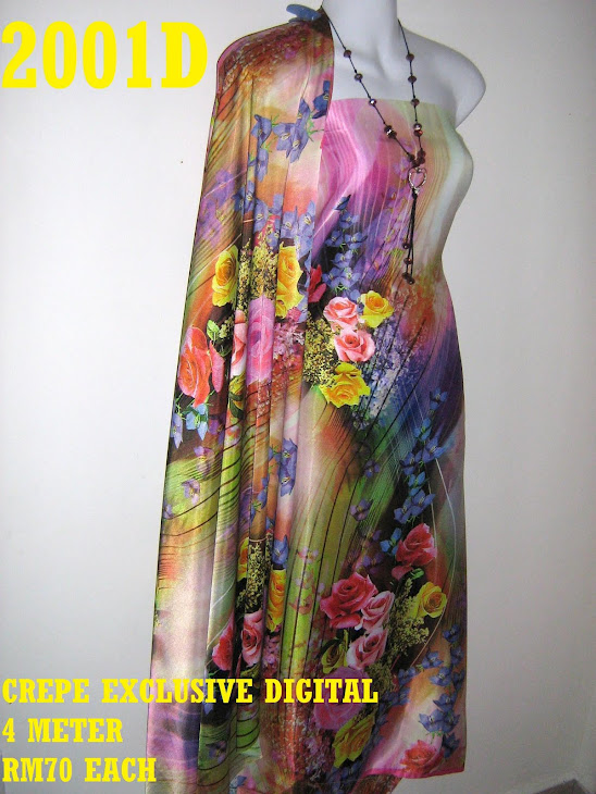 CP 2001D: CREPE EXCLUSIVE DIGITAL PRINTED, 4 METER