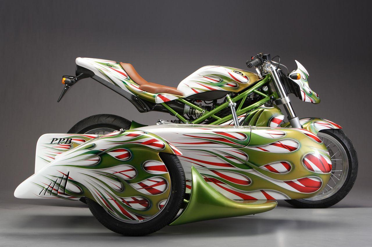 Big bike sticker design - Italian Sidecar Design Ppb From Cr S