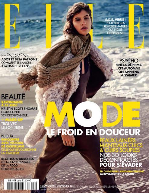 Model @ Antonina Petkovic by David Burton for Elle France, November 2015