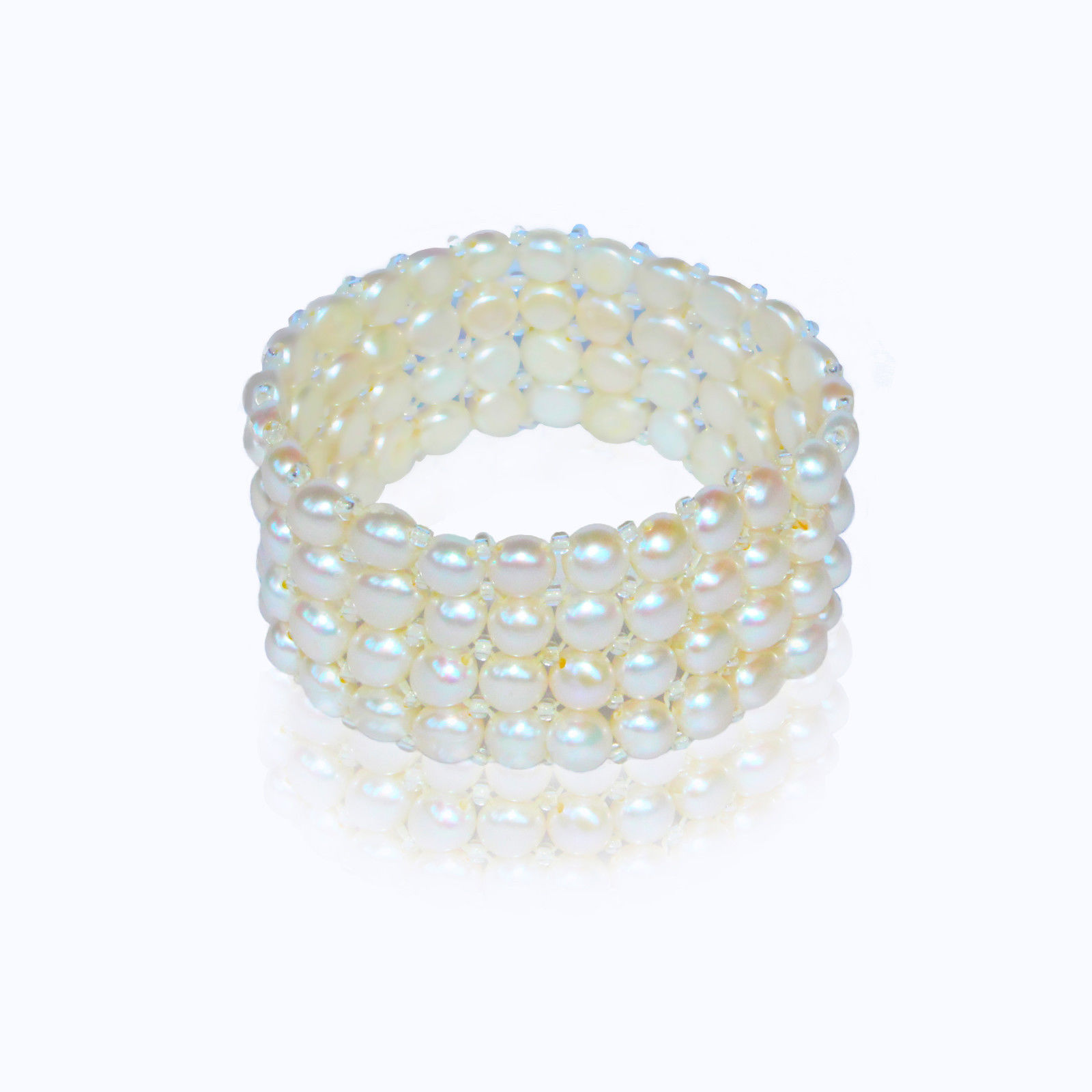 Freshwater Cultured Pearls, Expandable Bracelet