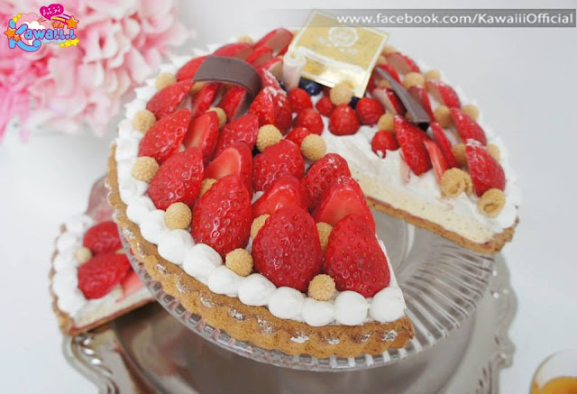 strawberry cake Japanese kawaii