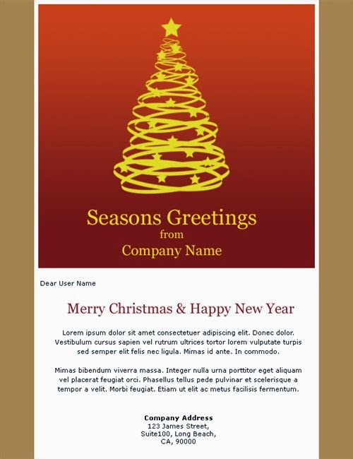 Beautiful Free Email Christmas Cards Templates