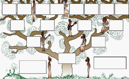 jeux d 39 enfants faire un arbre g n alogique avec des photos. Black Bedroom Furniture Sets. Home Design Ideas