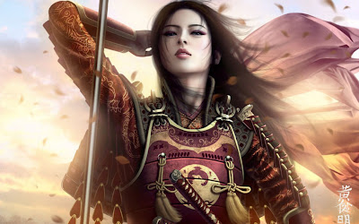 Beautiful warrior girl wallpaper
