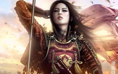 Beautiful warrior girl wallpaper