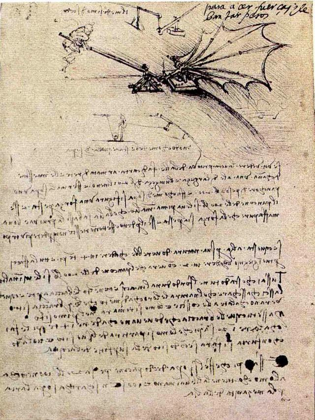 Maquina voladora. Leonardo