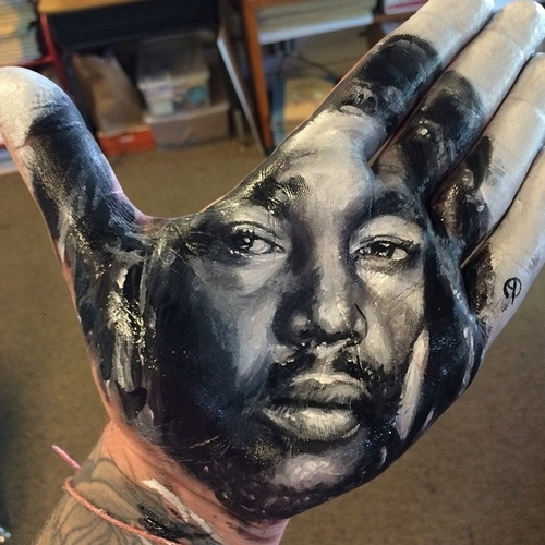 15-Russell-Powell-Hand-Body-Painting-Transferred-to-Paper-www-designstack-co