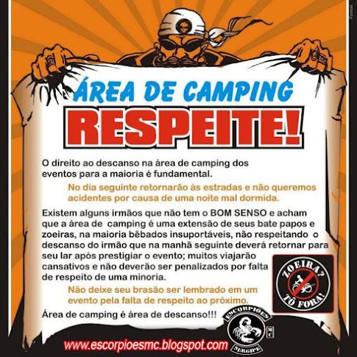 Respeite a Área de Camping