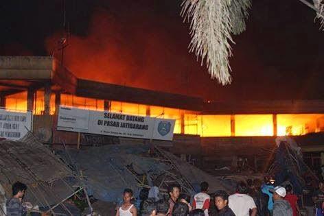 Foto Kebakaran Pasar Jatibarang Indramayu