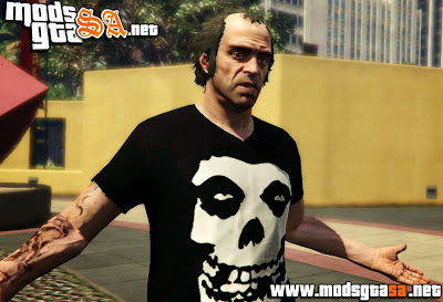 V - Trevor Camisa do Misfits para GTA V PC