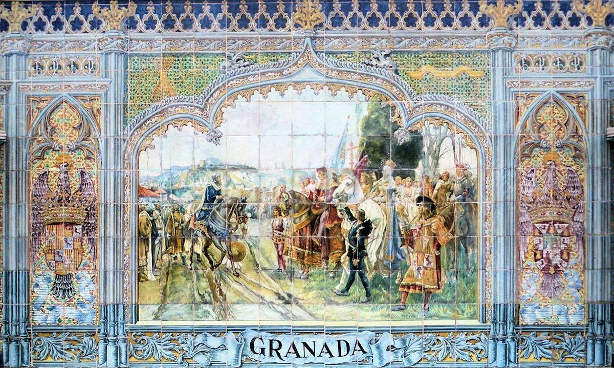 Azulejos Baño Granada:Azulejos de granada : Plaza de España – Sevilla – Azulejo de Granada