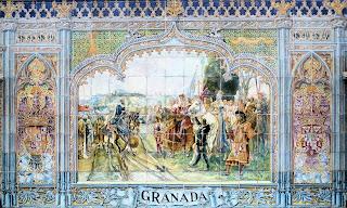 Plaza de España - Sevilla - Azulejo de Granada: Motivo Central