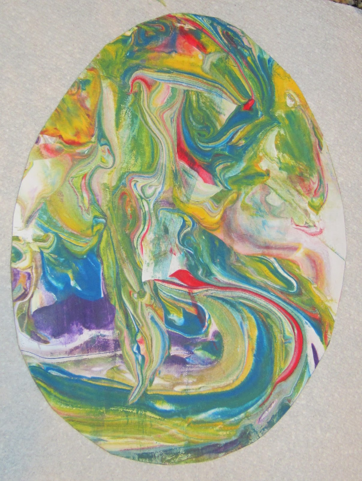 Teaching With TLC Create Marbled Eggs With Shaving Cream