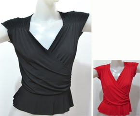 Blouse Ana BLE005 Black or red - US$ 30.00