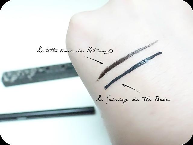 kat von D tattoo liner swatch