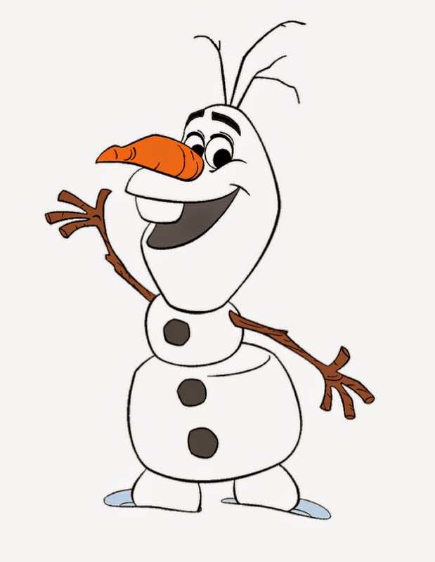 Free coloring pages of olaf face