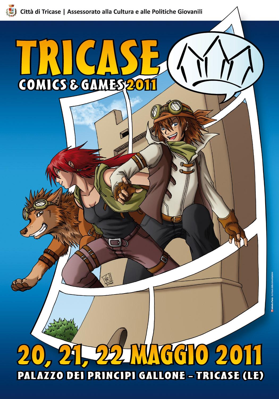 Locandina Tricase comics&games 2011 by Tenaga