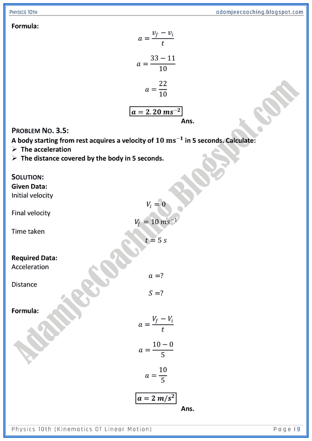 kinematics-of-linear-motion-solved-numericals-physics-10th