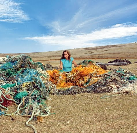art with marine debris