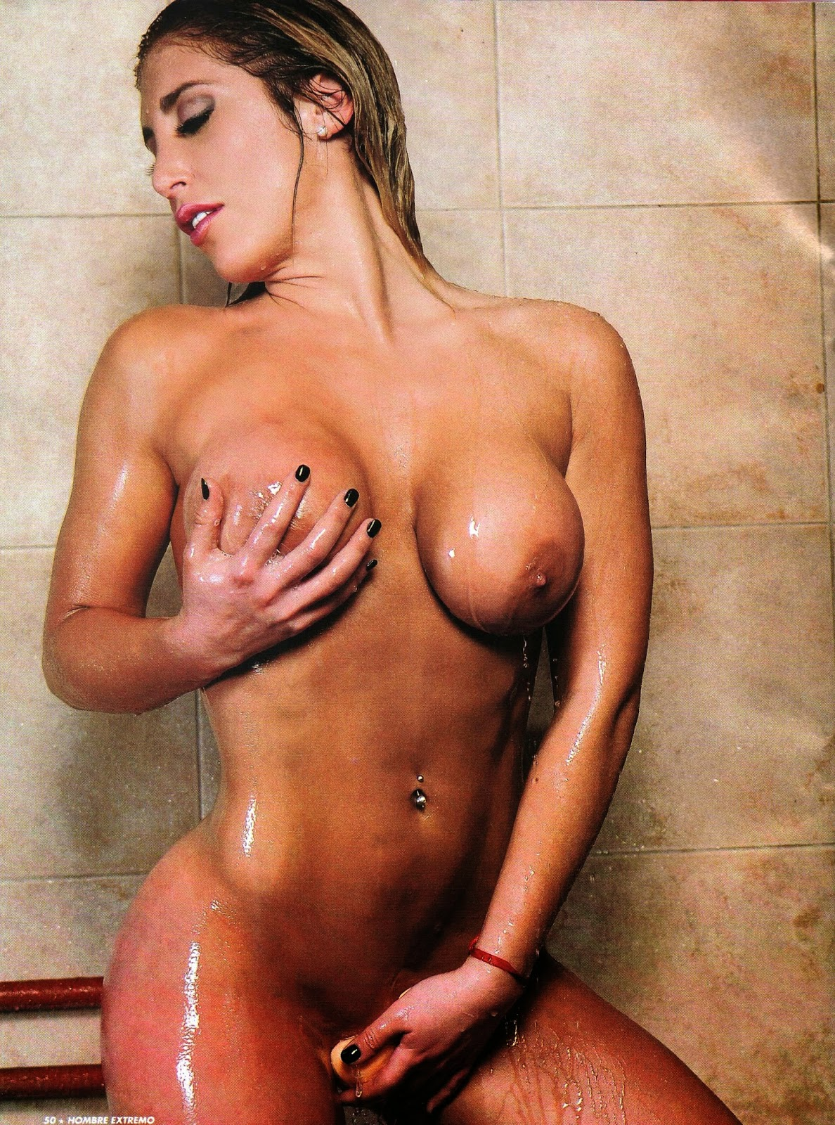 having shower naked