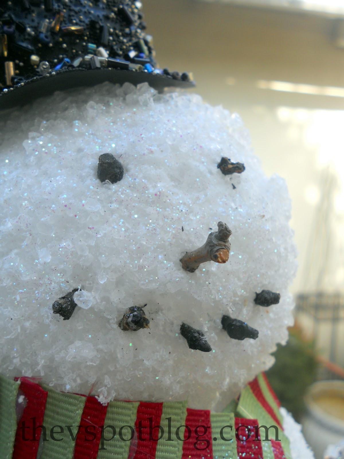 epsom salt snowman featuring vivienne from the v spot handmade