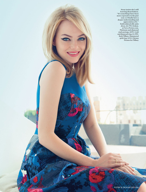 Emma Stone For British Vogue August 2012- Hair By My Boss ... Emma Stone