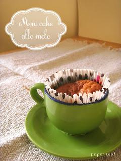 mini cake+mela+cannella+ricetta