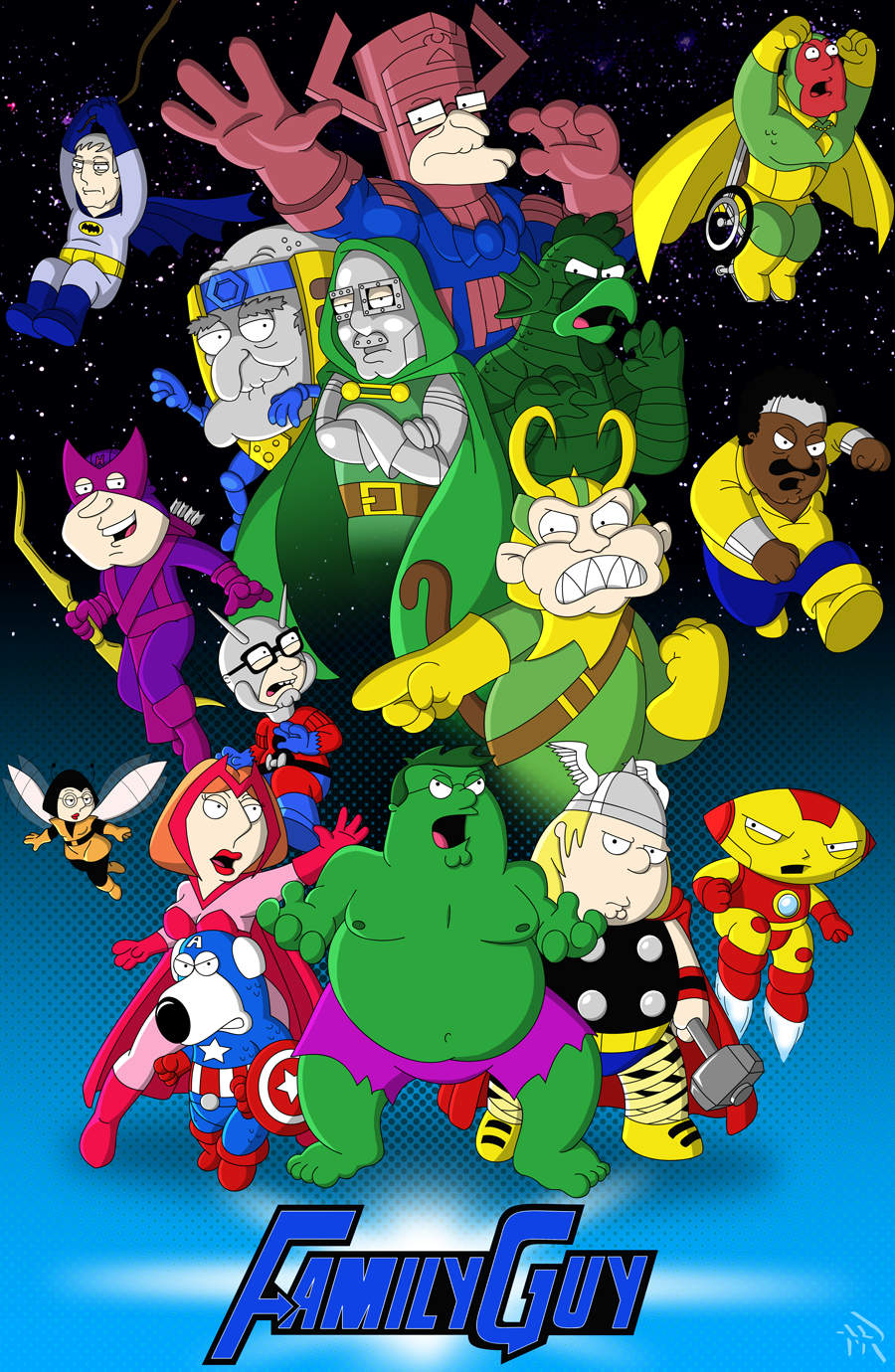 Family Guy Avengers por Superbdude1