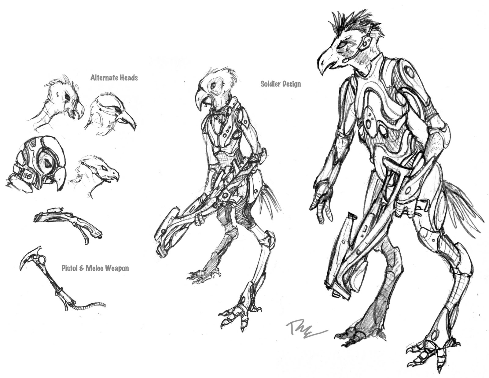 Robot Concept Drawings Concept Drawings Showing a