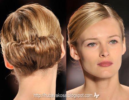 елегантни прически за дълга и средно дълга коса