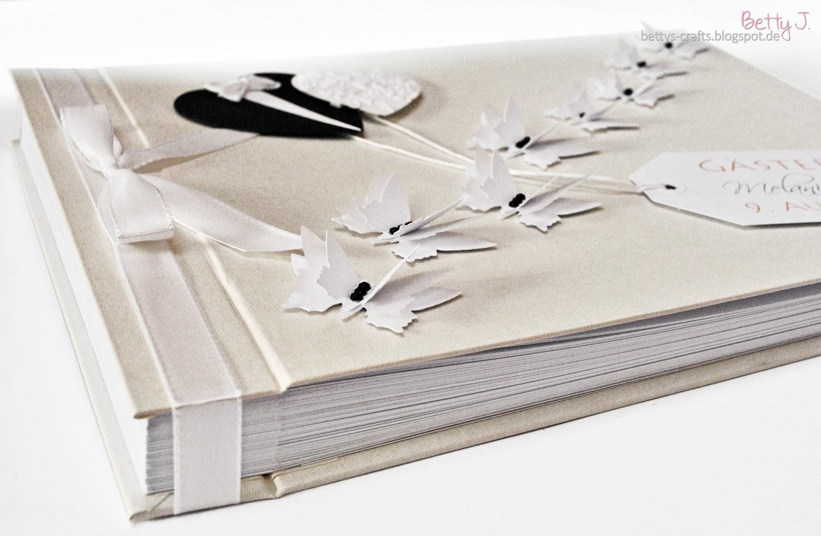 bettys crafts hochzeits g stebuch mit buchschrauben bindung variante 2. Black Bedroom Furniture Sets. Home Design Ideas