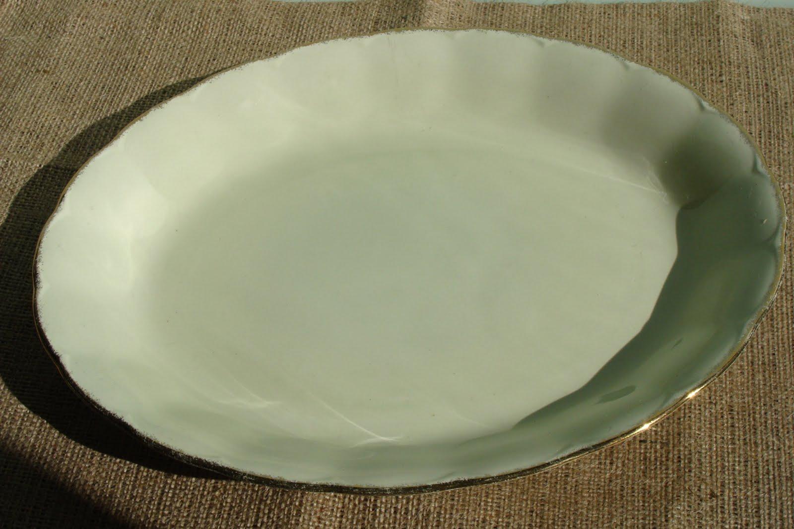 Fuente oval losa inglesa