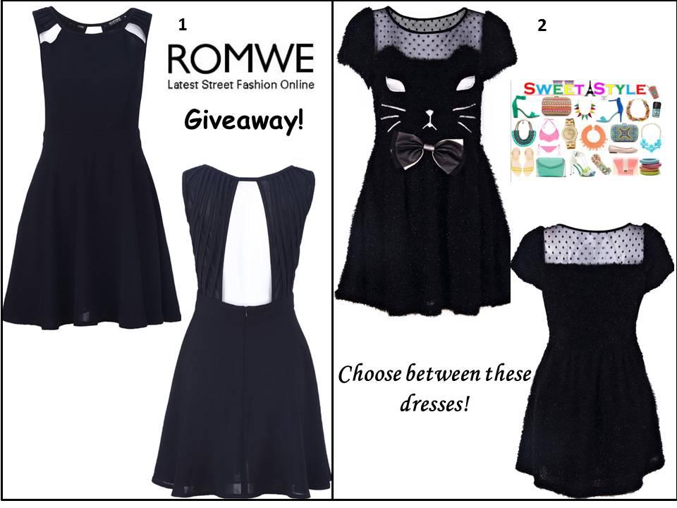Http Us Romwe Com Strap Buttons Flare Black Dress P  Cat  Html