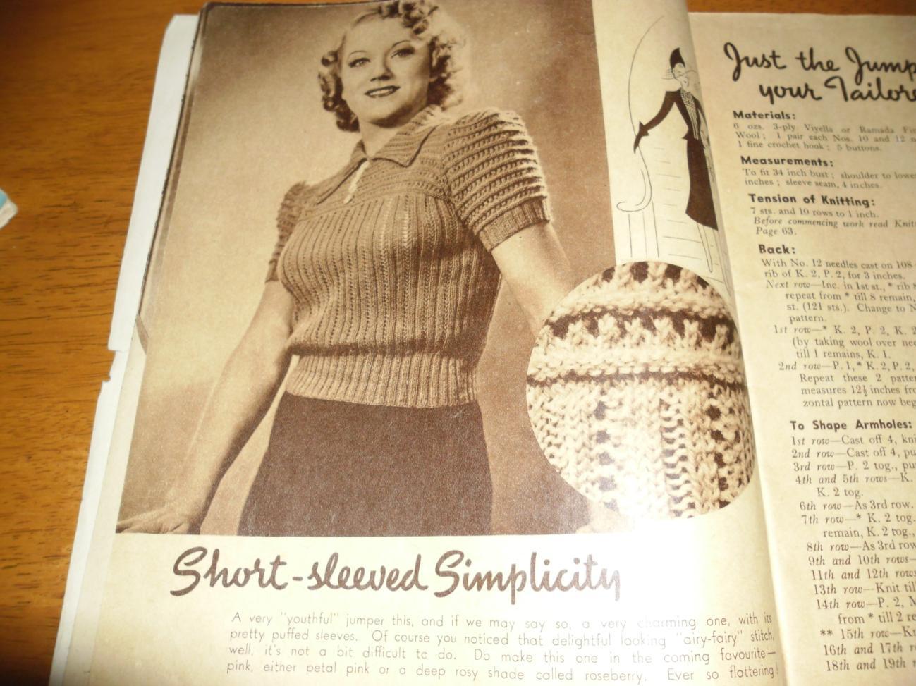 Vintage Knitting Books : Blooming lovely vintage knitting book