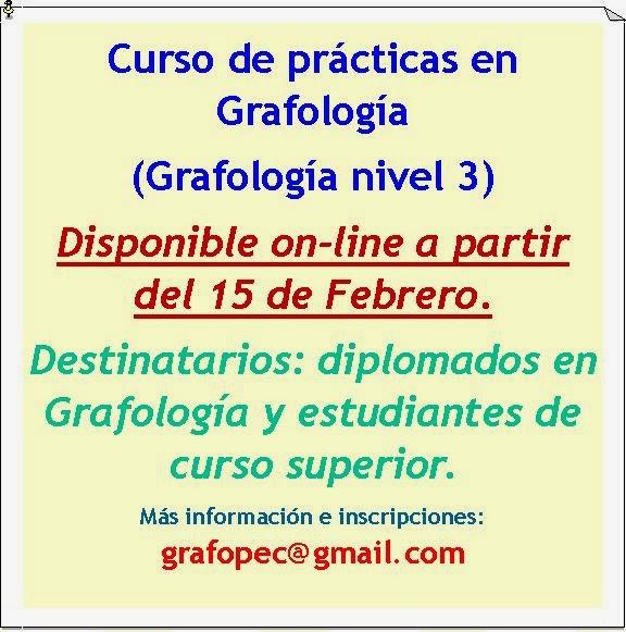 Curso de Prácticas en Grafología