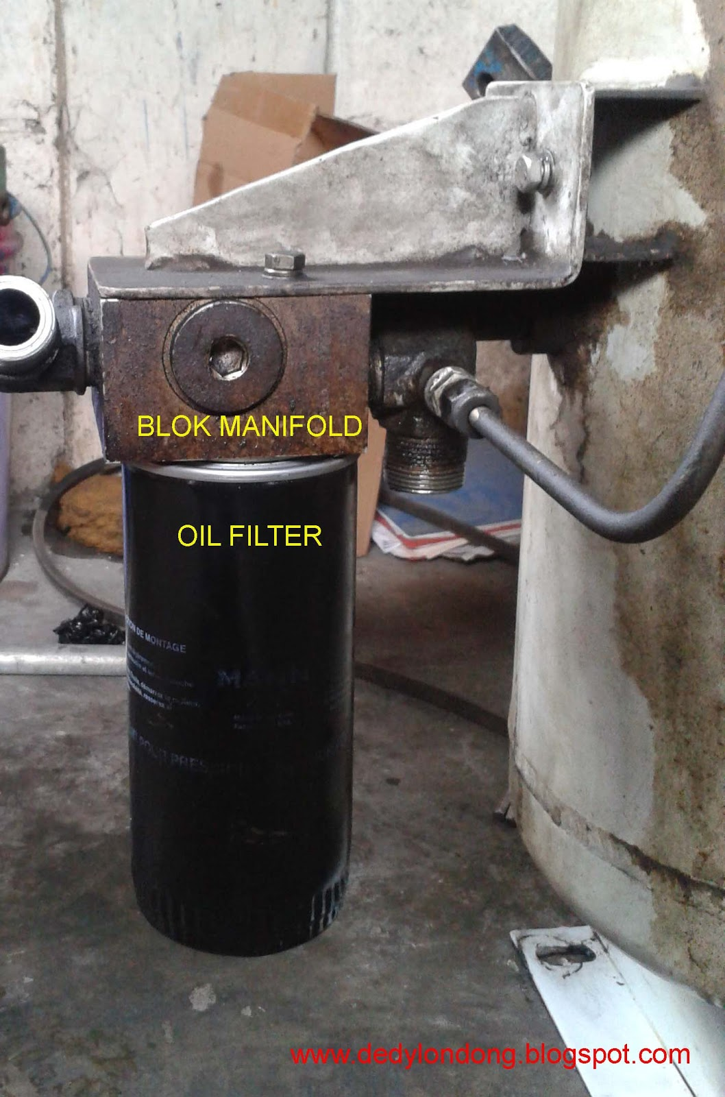 Mengatasi Overheating Pada Screw Air Compressor Oil Cooler 13 Row Selang Blok Manifold Filter Housing