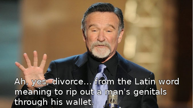 Ah, yes, divorce... from the Latin word