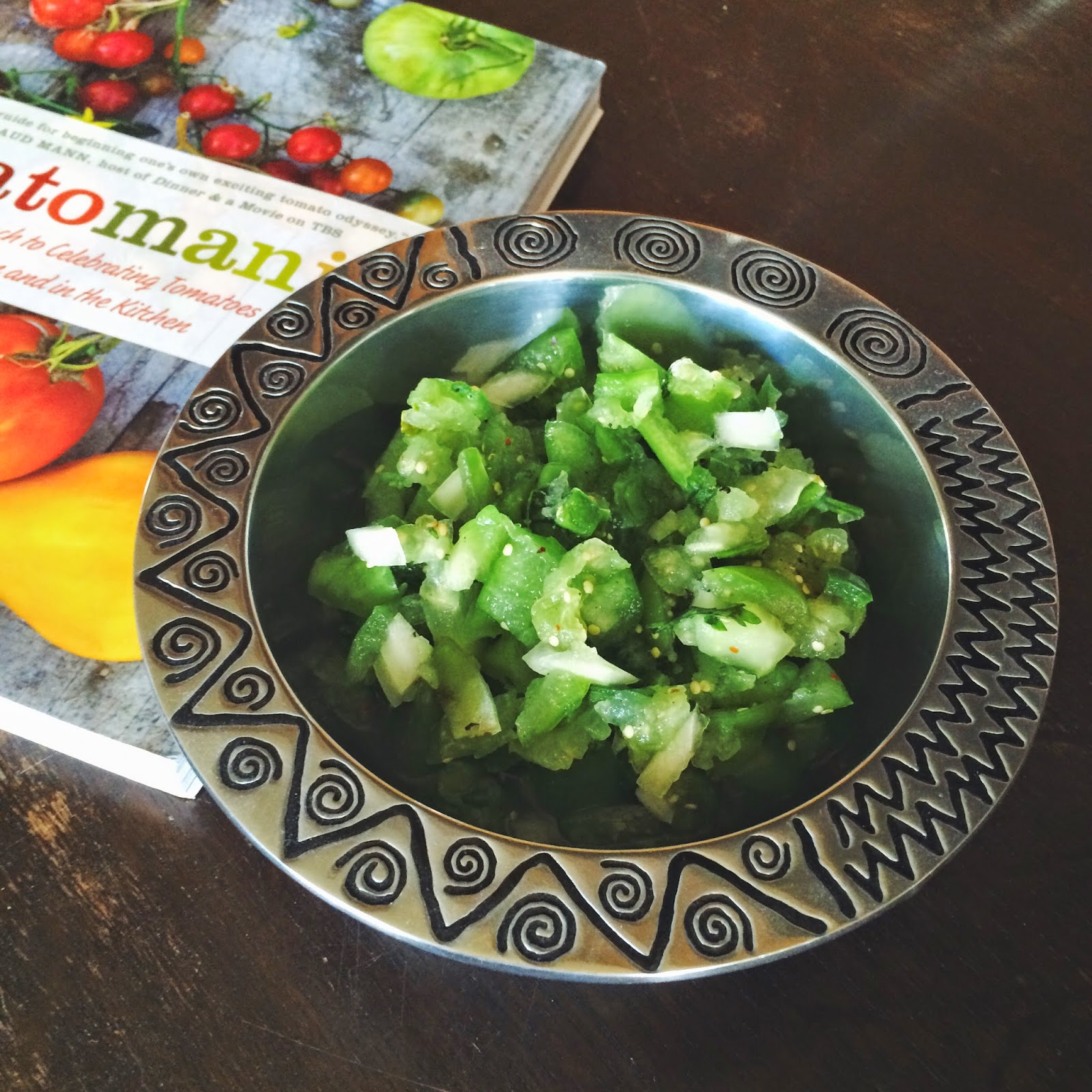 Green Salsa, Recipe, Tomatomania!, Cookbook, Recipe