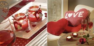 decoracion de velas y muebles para san valentin dia enamorados
