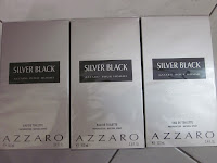 AZZARO PERFUME : SILVER BLACK FOR MEN