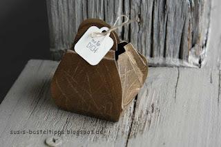 Tasche aus Curvy Keepsake Stanze von Stampin Up für Big Shot treat box