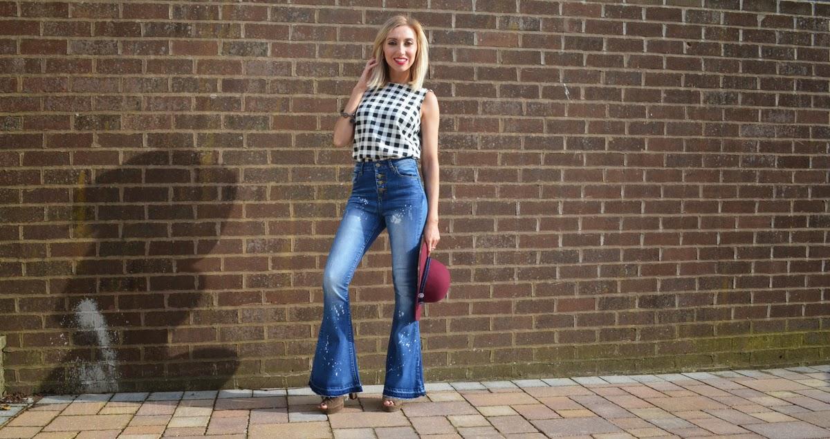 ASOS Denim Flares on Rock On Holly Blog