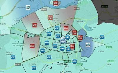 mapa de resultados electorales